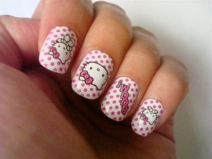 Cute-And-Attractive-Hello-Kitty-Nail-Art-Designs-And-Stickers-11